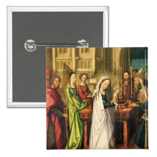 Depiction of Christ in the Temple, 1500 15 Cm Square Badge