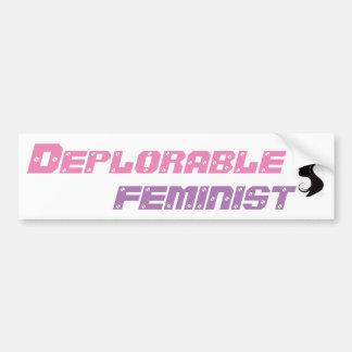 DEPLORABLE FEMINIST BUMPER STICKER