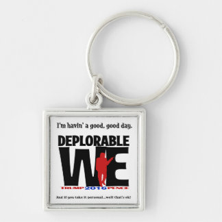 Deplorable square key chain