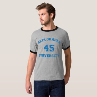 Deplorable U 1 shirt in blue