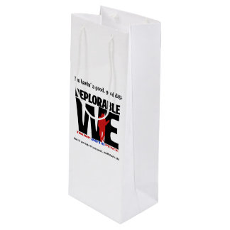 Deplorable We wine bag