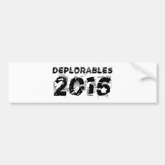 Deplorables 2016 bumper sticker