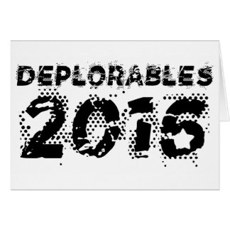 Deplorables 2016 card