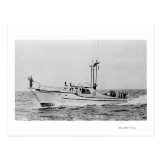 Depoe Bay, Oregon Tradewinds Kingfisher Boat Postcard
