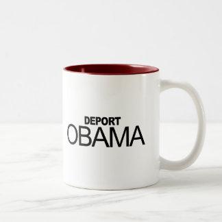 Deport Obama Two-Tone Mug