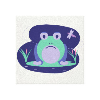 Depressed frog canvas print
