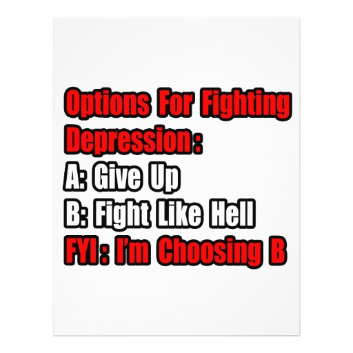 Depression Fighting Options Flyer