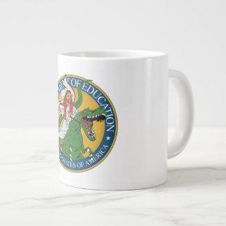 Dept. of Education - Jesus on a T-Rex Large Coffee Mug