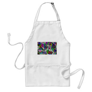 Depth layers pattern in colors aprons