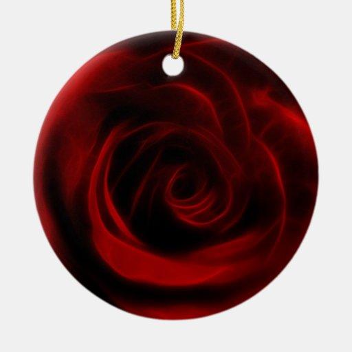 Depth of love red rose ornaments