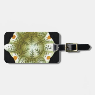 depth of the white flower luggage tag