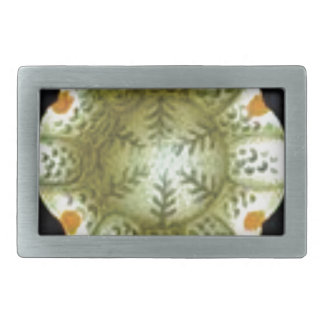 depth of the white flower rectangular belt buckle