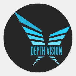 depth vision classic round sticker