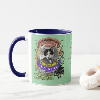 Depussy Cute Cat Animal Composer Claude Debussy Mug