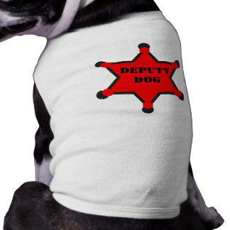 Deputy Dog Sleeveless Dog Shirt