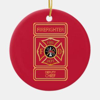 Deputy Fire Chief Custom Ceramic Ornament