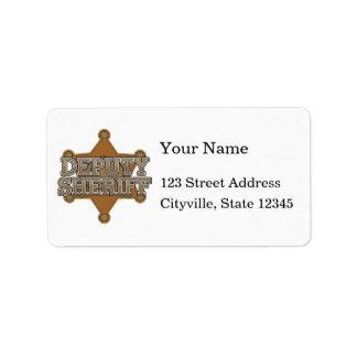 Deputy Sheriff Address Label