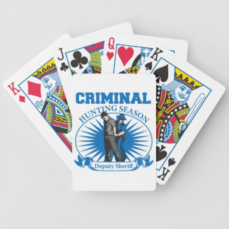 Deputy Sheriff Criminal Hunting Season Card Decks