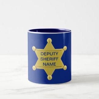 Deputy Sheriff Custon Two-Tone Coffee Mug