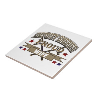 Deputy Sheriff Proud Wife Small Square Tile