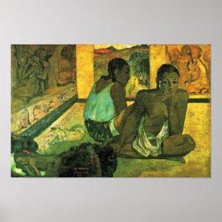 Der Traum (Te Rerioa) By Gauguin Paul Poster