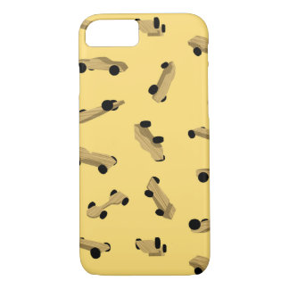 Derby Cars on Gold iPhone 8/7 Case