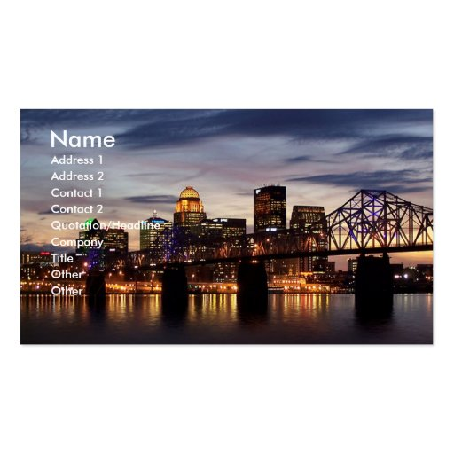 Derby City Business Cards