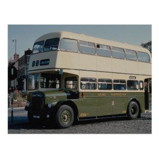 Derby Corporation 1964 Daimler waits for passenger Post Cards