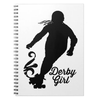 Derby Girl Silhouette, Roller Derby Skating Notebook