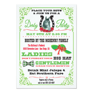 Derby Horse Racing Party invitation