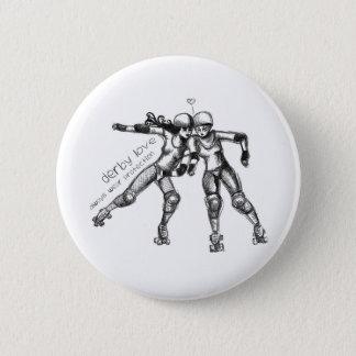 derby love 6 cm round badge