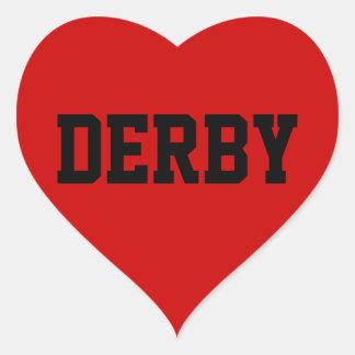 Derby Love Heart Sticker