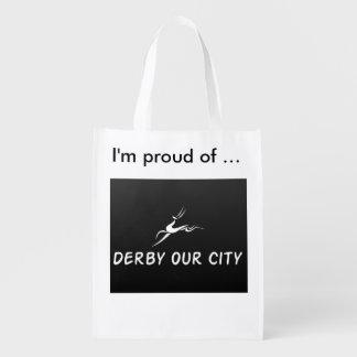 """DERBY OUR CITY """"PROUD"""" B/W REUSABLE BAG"""