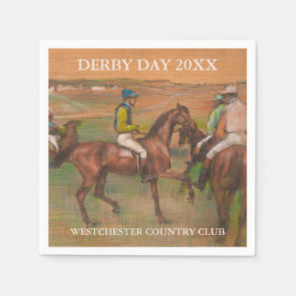 Derby Race Horses | Edgar Degas Custom Disposable Napkins