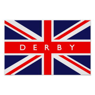 Derby UK Flag Posters