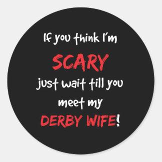 Derby Wife Round Sticker