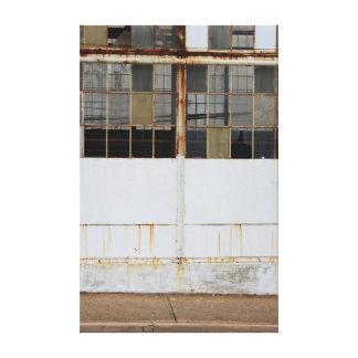 Derelict Factory Exterior Canvas Print