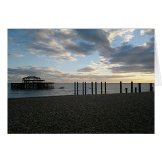 Derelict West Pier Brighton Card