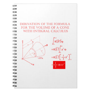 Derivation of the formula for the volume of a cone notebook