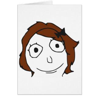 Derpina Brown Hair Rage Face Meme Cards