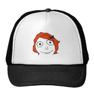 Derpina Red Hair Rage Face Meme Cap