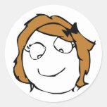Derpina Round Sticker