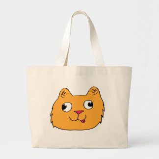 Derpy Cat Large Tote Bag
