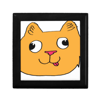 Derpy Cat Small Square Gift Box