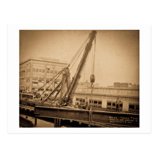 Derrick Car Loading Westchester Avenue Bronx NYC Postcard