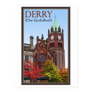 Derry - The Guildhall Postcard