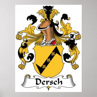 Dersch Family Crest Poster