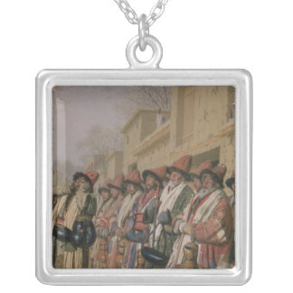 Dervishes' Chorus Begging Alms in Tashkent, 1870 Silver Plated Necklace