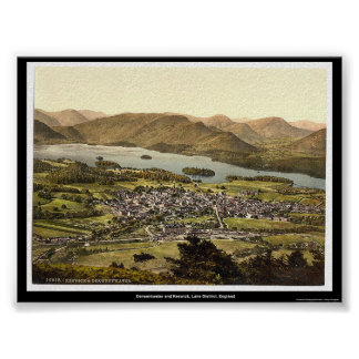 Derwentwater and Keswick, Lake District, England Poster