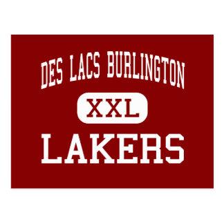 Des Lacs Burlington - Lakers - High - Des Lacs Postcard